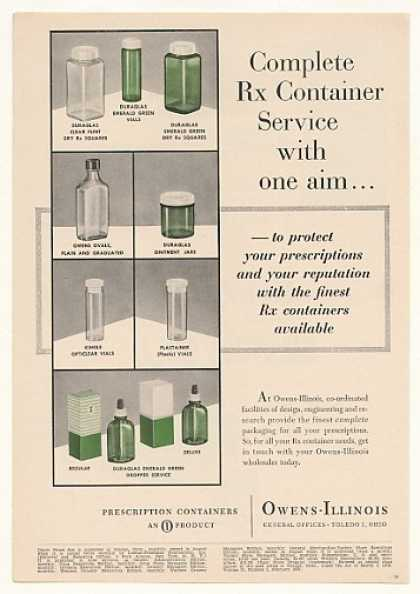 Owens-Illinois Prescription Rx Containers Trade (1955)