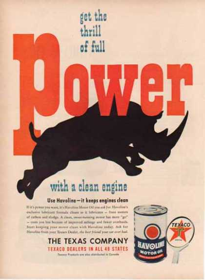Texaco – Havoline Oil – The Texas Company (1949)