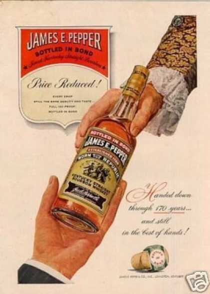 James E. Pepper Bourbon Whiskey (1950)