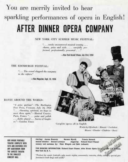 After Dinner Opera Company Booking (1959)