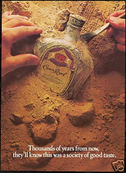 Crown Royal Whisky Archeology Bottle Photo (1982)