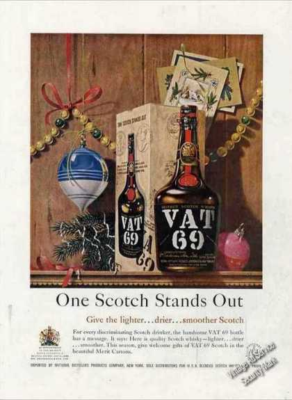 "Vat 69 ""One Scotch Stands Out"" (1957)"