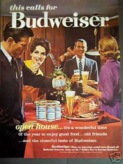 Budweiser Beer Cans Open House Party (1962)
