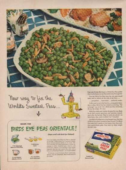 Birds Eye Frozen Green Peas (1949)