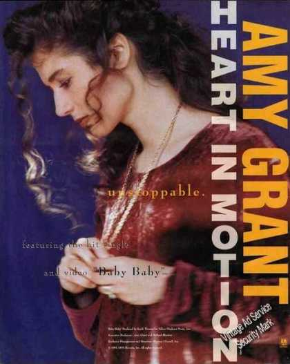 Amy Grant Photo Heart In Motion Album Promo (1991)