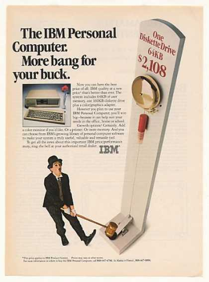 IBM PC Personal Computer More Bang Little Tramp (1983)