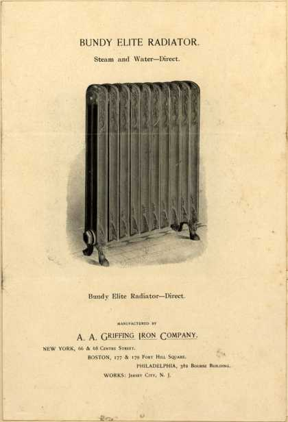 A. A. Griffing Iron Co.'s Radiator – Bundy Elite – Bundy Elite Radiator