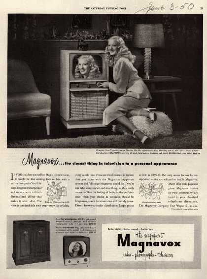 Magnavox Company's Television – Magnavox... the closest thing in television to a personal appearance (1950)
