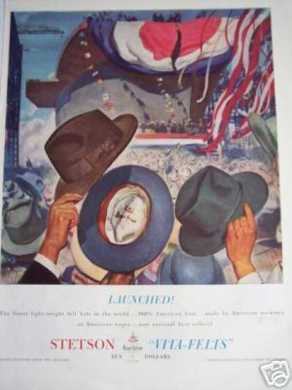 Stetson Hats American Made Vita Felts (1941)