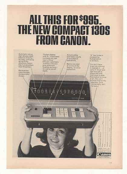 Canon 130S Electronic Calculator Photo (1968)
