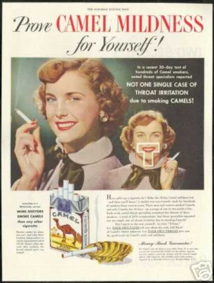 More Doctors Smoke Camel Cigarette Mildness (1949)