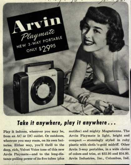 Arvin Radio's Arvin playmate – Take it anywhere, play it anywhere (1953)