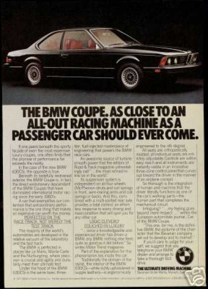 Black BMW 630CSI Photo Vintage Car 630 -CSI (1977)