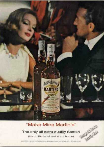 """Make Mine Martin's"" All Extra Quality Scotch (1962)"