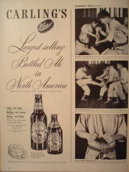 Carling's Red Cap Ale Beer Largest Selling (1947)