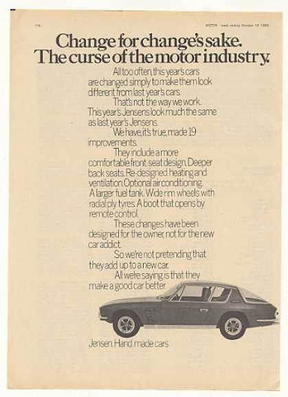 Jensen Hand Made Car 19 Changes UK (1969)