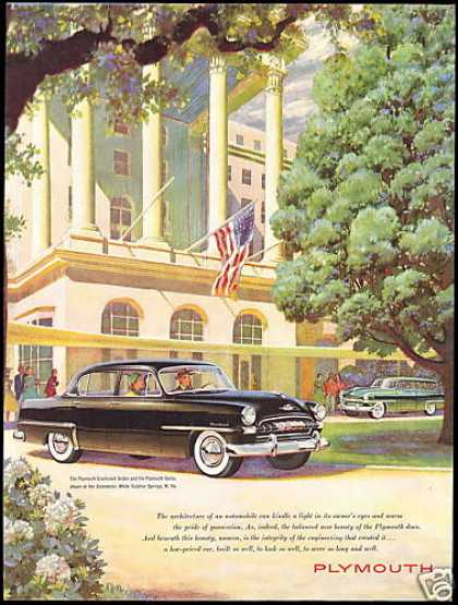Plymouth Car Greenbrier White Sulphur Springs (1953)