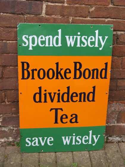 Brooke Bond Dividend Tea Sign