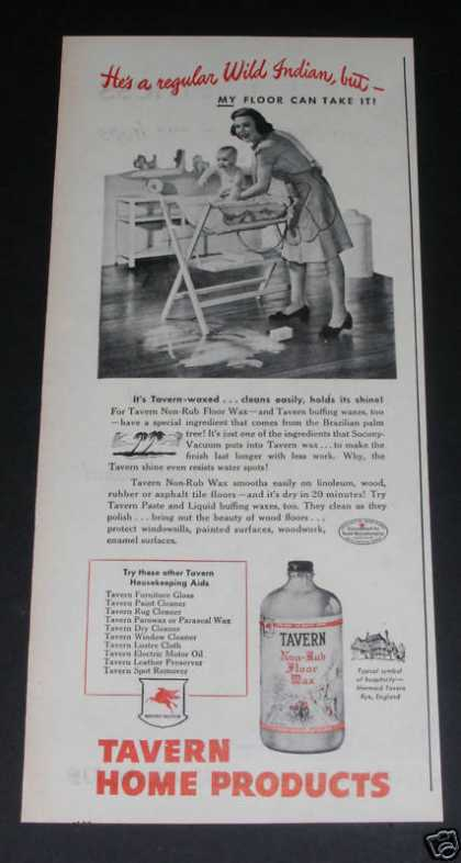 Old , Mobil, Tavern Floor Wax (1946)
