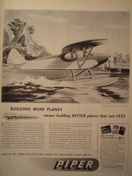 Piper Airplanes plane Better costs less (1946)