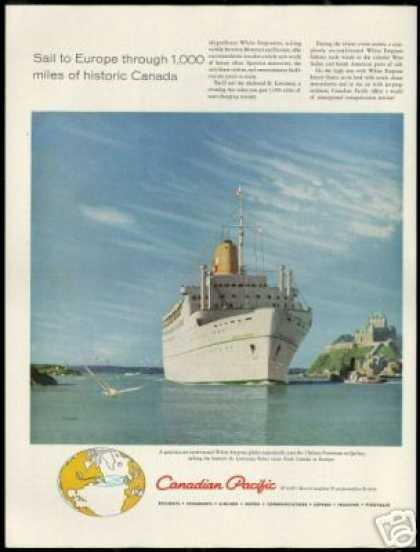 Canadian Pacific White Empress Cruise Ship (1959)