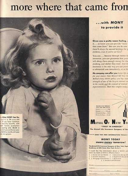 MONY's Mutual Life Insurance Company of New York (1953)