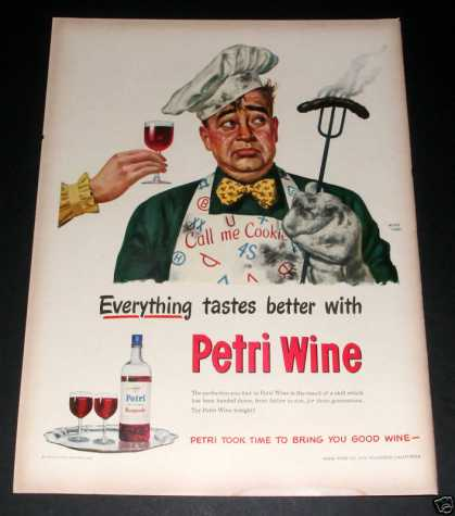 Petri Wine, Michel Kady Art, Exc (1949)