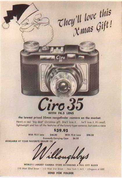 Ciro 35 – F4.5 Lens / Willoughbys Camera Store (1950)