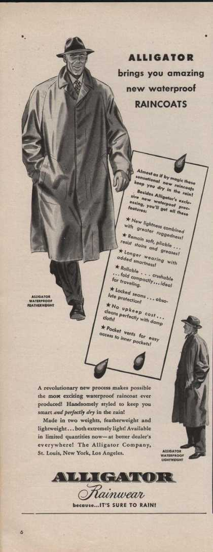 Alligator Mens Rainwear Coat (1942)