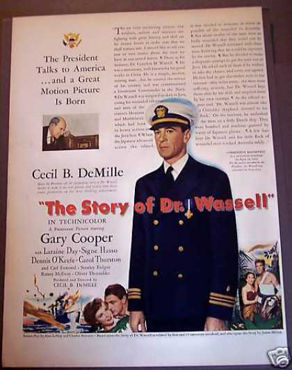 Movie Promo Ad Story of Dr. Wassell Gary Cooper (1944)