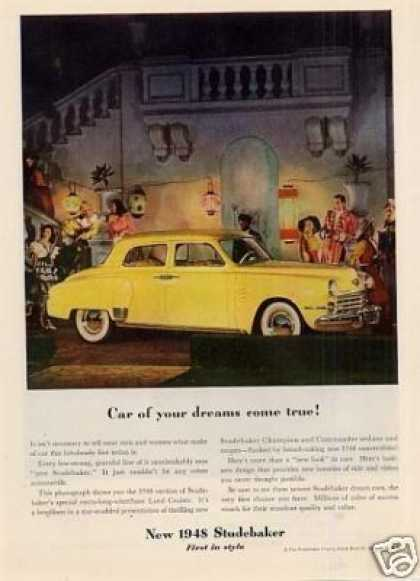 "Studebaker Land Cruiser Ad ""Car of Your Dreams... (1948)"