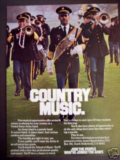 Us Army Marching Band Country Music Photo (1980)