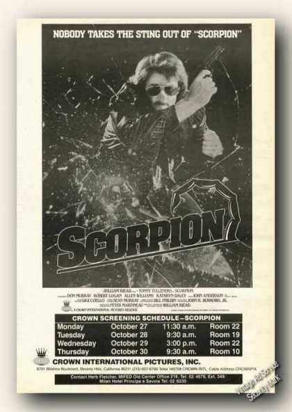 Scorpion Movie Rare (1986)