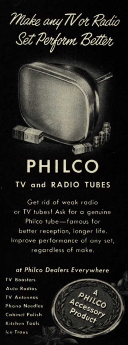 Philco's TV and Radio Tubes – Make any TV or Radio Set Perform Better (1952)