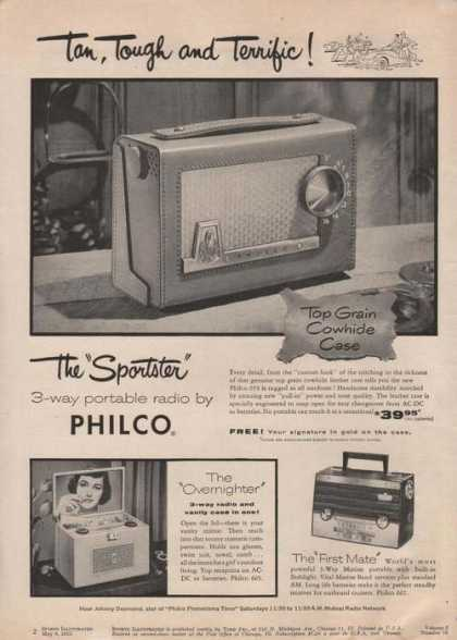 Philco Sportster Portable Radio (1955)