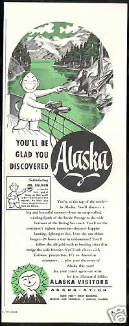 Alaska Travel Mr Billiken Eskimo Mascot (1953)