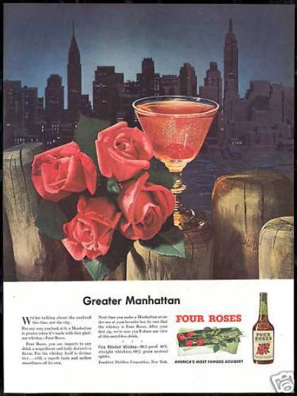Four Roses Whisky Manhattan Skyline Drink (1948)