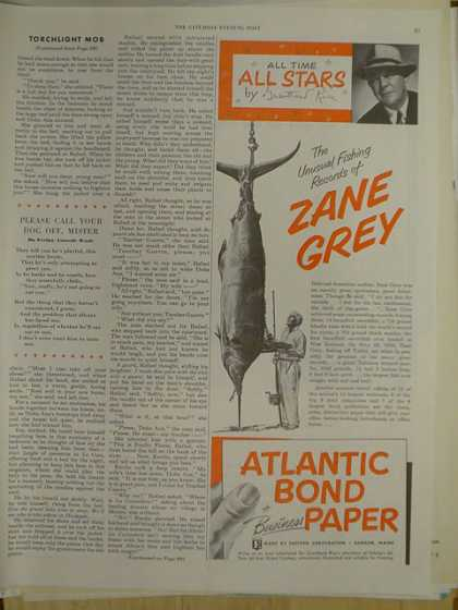 Atlantic Bond Paper All star Zane Grey (1952)