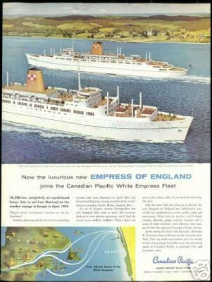 Canadian Pacific Cruise Line Empress Vintage (1956)