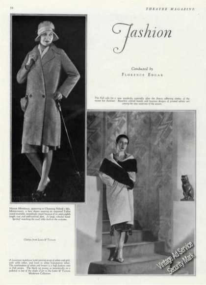 Marion Morehouse Photos Ad Lord & Taylor Fashions (1928)