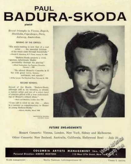 Paul Badura-skoda Pianist Booking (1956)