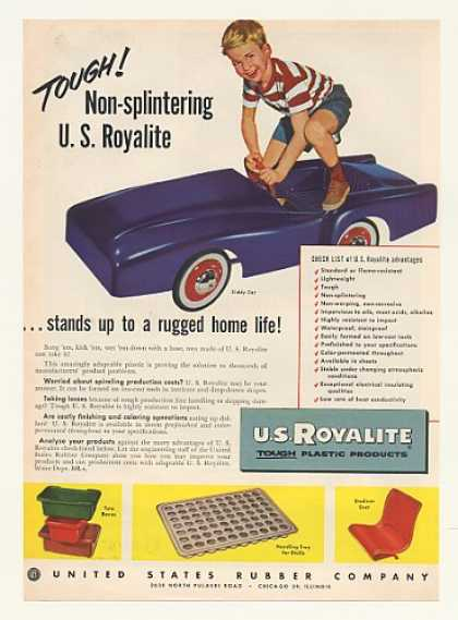 Kiddy Car Royalite Plastic US Rubber Co (1952)