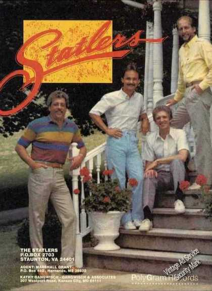 The Statlers On Front Porch Photo Nice Promo (1989)