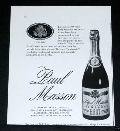 Paul Masson, Fine Champagne (1948)