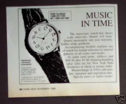 Chromatic Musicians Watch W Music Scale Dial (1986)
