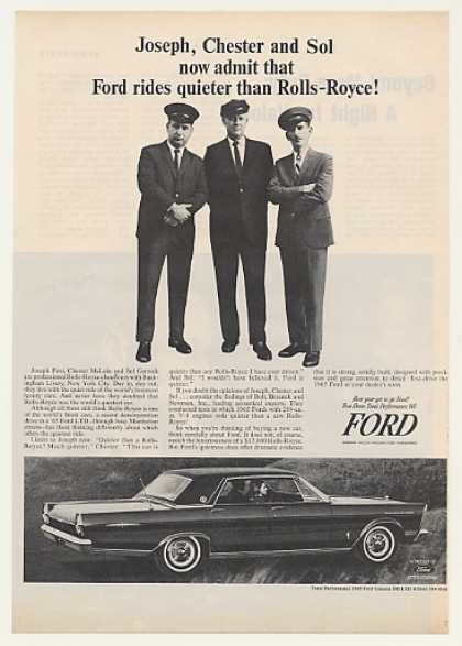 Ford Galaxie 500 LTD Rolls-Royce Chauffeurs (1965)