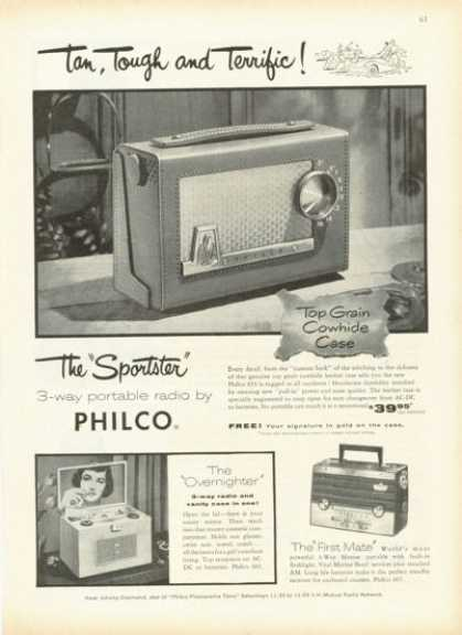 Philco Sportster First Mate Portable Radio (1955)