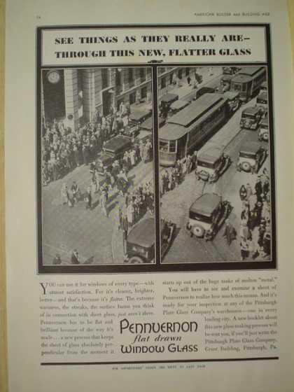 Pennvernon window glass. See things as they really are. (1930)