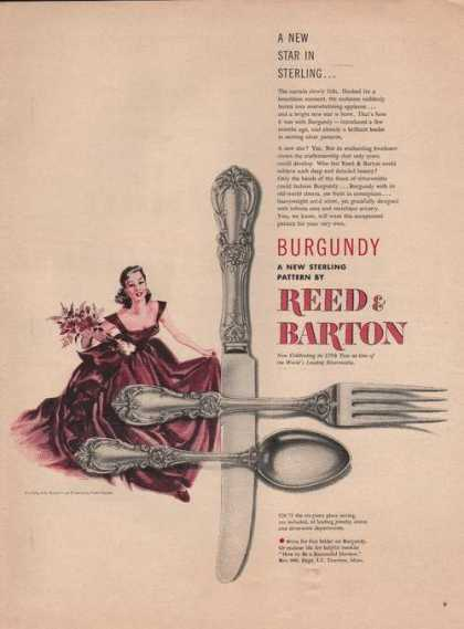 Burgundy Reed & Barton Sterling Ware (1949)