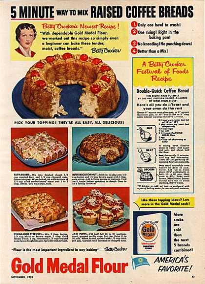 Gold Medal's 5 minute Raised Coffee Breads (1953)